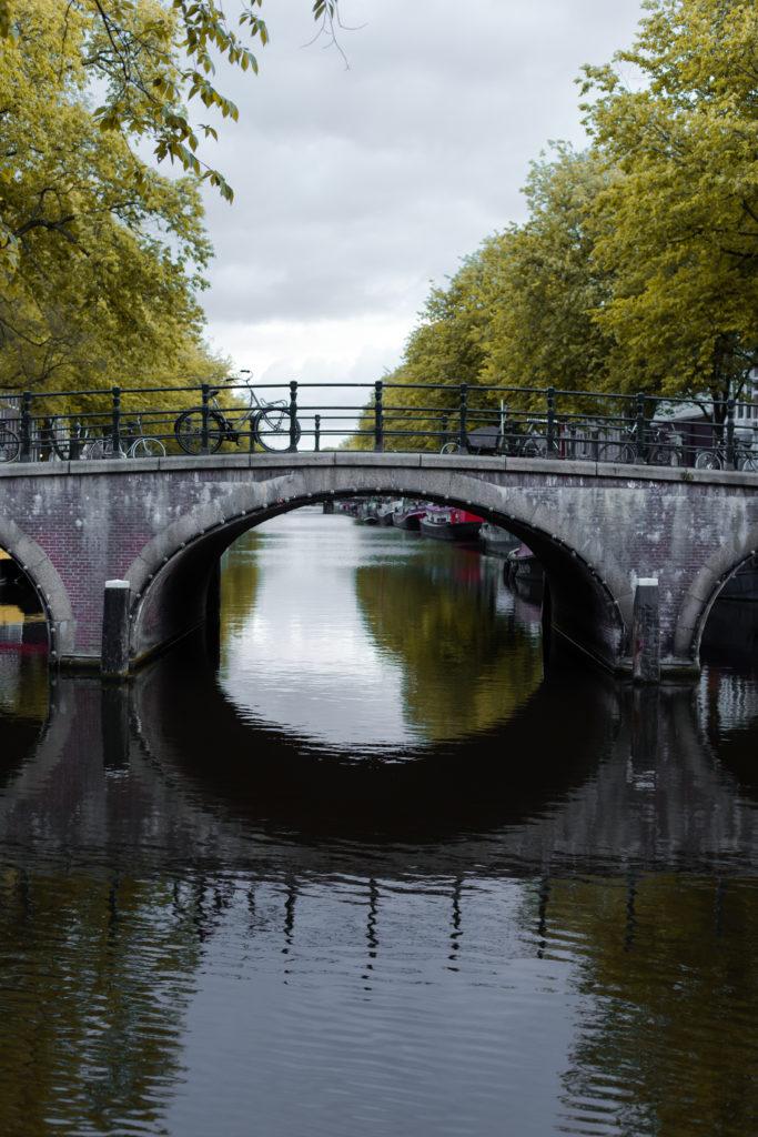 Poster en ansichtkaart: Amsterdamse gracht
